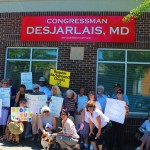 Volunteers rally at Rep. Scott DesJarlais Office, Murfreesboro, TN