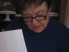 Carolyn Inman studies the calender for the spring.