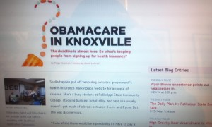 Front Page of Metro Pulse Article on Obamacare in Knoxville